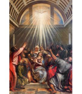 Tiziano Vecellio. La discesa dello Spirito Santo. Stampa su tela