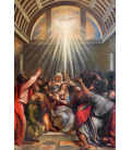 Tiziano Vecellio. The Descent of the Holy Ghost. Printing on canvas