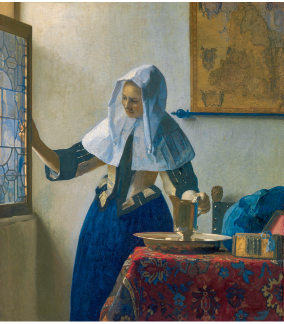 Jan Vermeer - Young Woman with a water pitcher. Printing on canvas