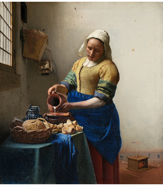 Jan Vermeer - The Milkmaid. Printing on canvas