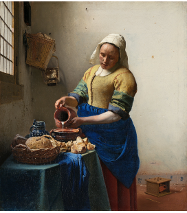 Jan Vermeer - The Milkmaid. Printing on canvas