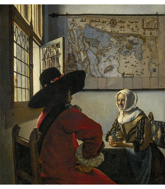 Jan Vermeer - Officer and laughing girl. Printing on canvas