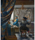 Jan Vermeer - The Allegory of Painting. Printing on canvas
