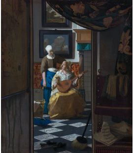 Jan Vermeer - The Loveletter. Printing on canvas