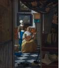 Jan Vermeer - The Loveletter. Printing on canvas