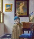 Jan Vermeer - A Young Woman standing at a Virginal. Printing on canvas