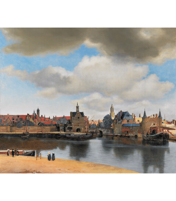 Jan Vermeer - Veduta di Delft. Stampa su tela