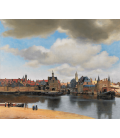 Jan Vermeer - Vist of Delft. Printing on canvas