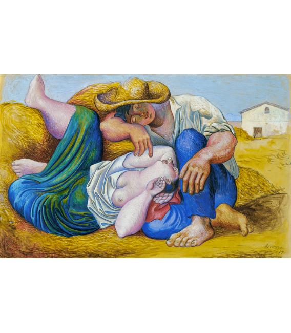 Stampa su tela: Picasso Pablo - La Siesta