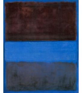 Mark Rothko - N°61 Rugine e Blu. Stampa su tela