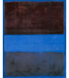 Mark Rothko - No. 61 Rust and Blue. Printing on canvas