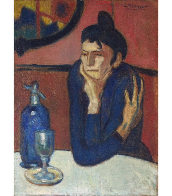 Pablo Picasso - Absinthe drinker. Printing on canvas