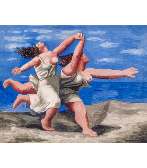 Stampa su tela: Picasso Pablo - Deux femmes courant sur la plage (La Course) (Two Women Running)