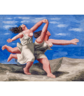 Printing on canvas: Pablo Picasso - Two women running on the beach (The Run)