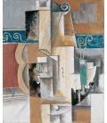 Picasso Pablo - Chitarra e violino. Stampa su tela