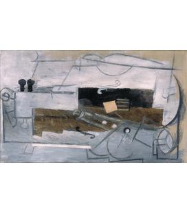 Picasso Pablo - Clarinetto e violino. Stampa su tela