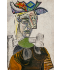 Pablo Picasso - Woman sitting with hat. Printing on canvas