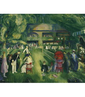 George Bellows - Tennis in Newport. Printing on canvas
