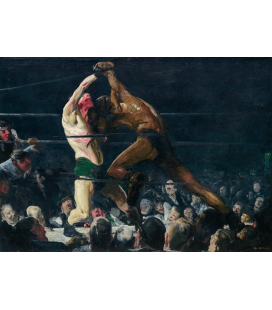 George Bellows - Both Members of This Club. Printing on canvas