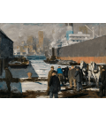 George Bellows - Men of the quay. Printing on canvas