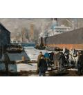 George Bellows - Uomini della banchina. Stampa su tela