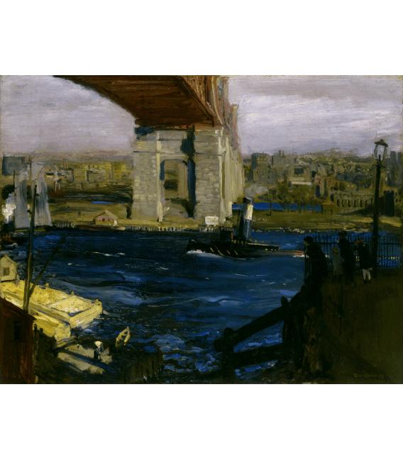 George Bellows - Blackwell's Island Bridge. Printing on canvas