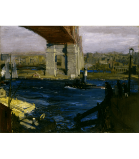 George Bellows - Ponte di Blackwell's Island. Stampa su tela