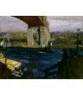 George Bellows - Ponte di Blackwell's Island. Stampa su tela