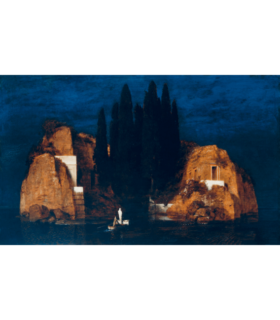 Arnold Bocklin - The island of the dead. Printing on canvas