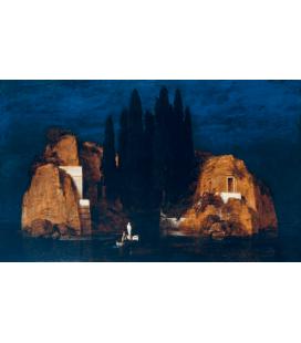 Arnold Bocklin - L'isola dei morti II. Stampa su tela