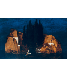 Arnold Bocklin - The island of the dead II. Printing on canvas