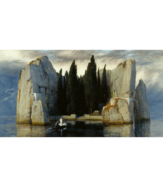 Arnold Bocklin - The island of the dead III. Printing on canvas