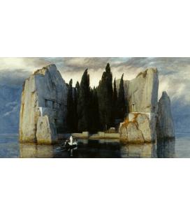 Arnold Bocklin - L'isola dei morti III. Stampa su tela