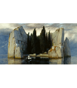 Arnold Bocklin - The island of the dead III. Printing on canvas