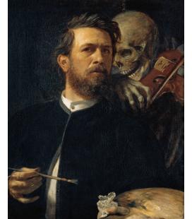 Arnold Bocklin - Joking death. Printing on canvas