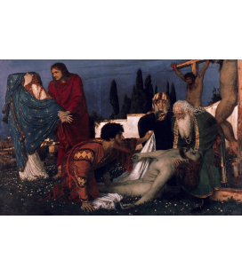 Arnold Bocklin - The deposition. Printing on canvas