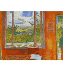 Pierre Bonnard - La finestra aperta. Stampa su tela