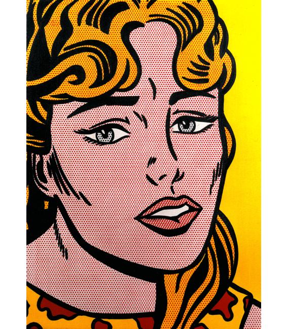 Roy Fox Lichtenstein - Anxious girl. Printing on canvas