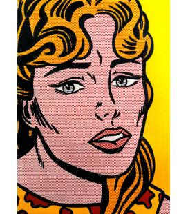 Roy Fox Lichtenstein - Ragazza ansiosa. Stampa su tela
