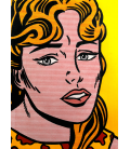 Roy Fox Lichtenstein - Anxious girl. Printing on canvas