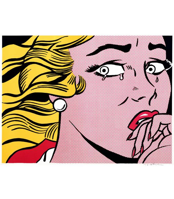 Roy Fox Lichtenstein - Ragazza che piange. Stampa su tela