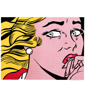 Roy Fox Lichtenstein - Crying girl. Printing on canvas