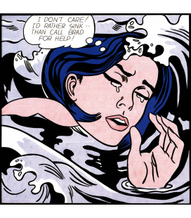 Roy Fox Lichtenstein - Drowning Girl. Printing on canvas