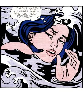 Roy Fox Lichtenstein - Ragazza che annega. Stampa su tela