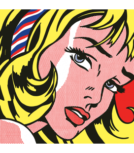 Roy Fox Lichtenstein - Girl With Hair Ribbon. Printing on canvas
