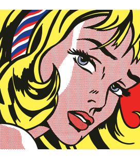 Roy Fox Lichtenstein - Girl With Hair Ribbon. Printing on canvas