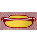 Roy Fox Lichtenstein - Hot Dog. Stampa su tela