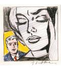 Roy Fox Lichtenstein - Studio della tensione. Stampa su tela