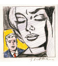Roy Fox Lichtenstein - Study for Tension. Printing on canvas