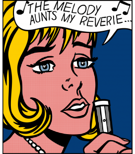 Roy Fox Lichtenstein - The melody haunts my reverie. Printing on canvas
